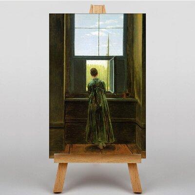 Big Box Art Woman at a Window by Caspar David Friedrich Art Print on Canvas