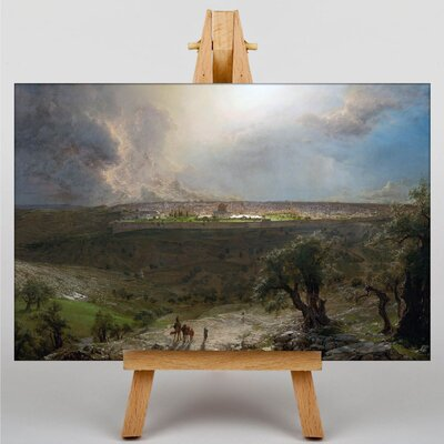 Big Box Art Church Jerusalem from the Mount of Olives by Frederic Edwin Art Print on Canvas
