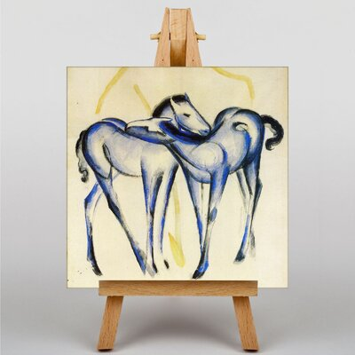 Big Box Art Two Blue Horses by Franz Marc Art Print on Canvas