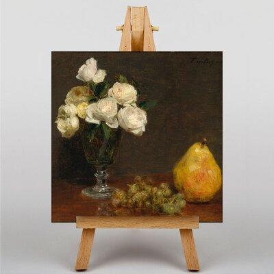 Big Box Art Still Life Fruit with Flowers No.3 by Henri Fantin-Latour Art Print on Canvas