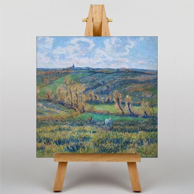 Big Box Art The White Horse in the Valley by Henry Moret Art Print on Canvas