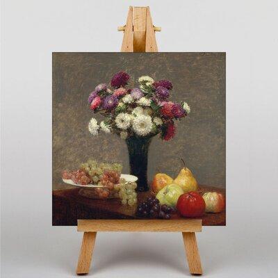 Big Box Art Still Life Fruit with Flowers by Henri Fantin-Latour Art Print on Canvas