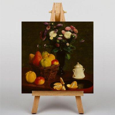 Big Box Art Still Life Fruit with Flowers No.5 by Henri Fantin-Latour Art Print on Canvas