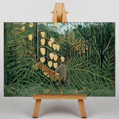 Big Box Art In a Tropical Forest by Henri Rousseau Art Print on Canvas