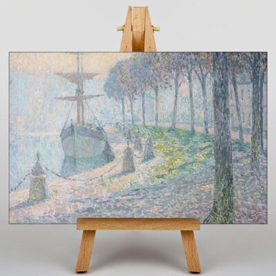Big Box Art Docked Boat by Henri Le Sidaner Art Print on Canvas