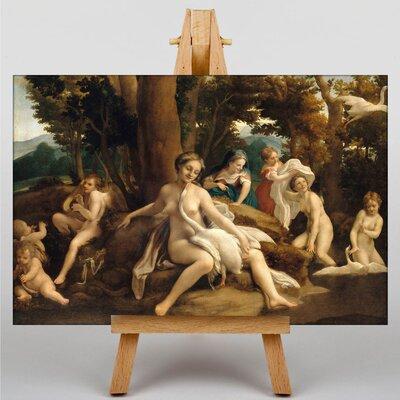 Big Box Art Leda and the Swan by Correggio Art Print on Canvas