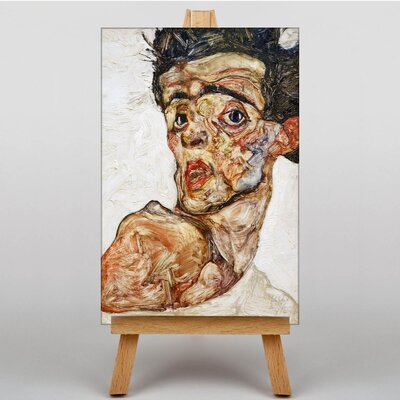 Big Box Art Portrait No.3 by Egon Schiele Art Print on Canvas