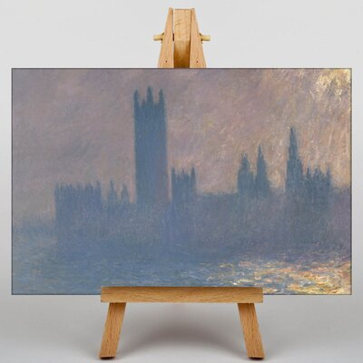 Big Box Art Houses of Parliment by Claude Monet Art Print on Canvas