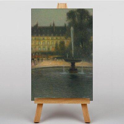 Big Box Art Tuileries Paris by Henri Le Sidaner Art Print on Canvas