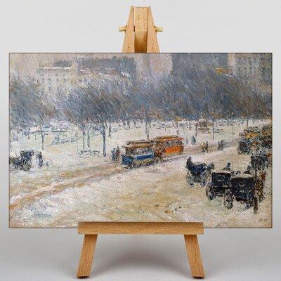 Big Box Art Winter in Union Square, Washington by Childe Hassam Art Print on Canvas