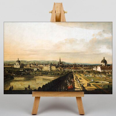 Big Box Art Vienna Belvedere Palace by Bernado Bellotto Canaletto Art Print on Canvas