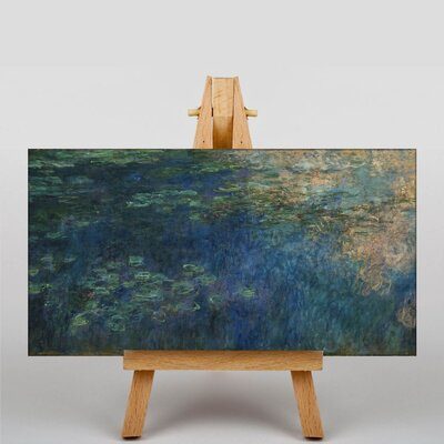 Big Box Art Reflections of Clouds by Claude Monet Art Print on Canvas