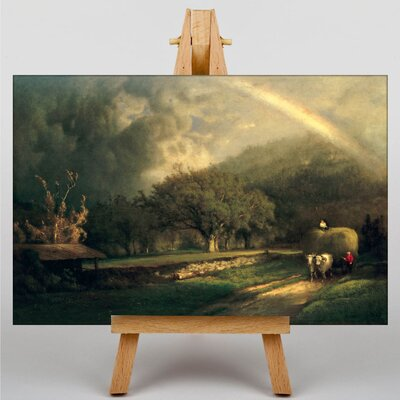 Big Box Art The Rainbow in the Berkshire Hills by George Innes Art Print on Canvas