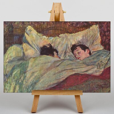 Big Box Art Two Girls in Bed by Henri de Toulouse-Lautrec Art Print on Canvas