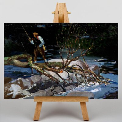 Big Box Art Trout Fishing by George Luks Art Print on Canvas