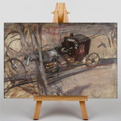 Big Box Art Horse Drawn Carriage by Giovanni Boldini Art Print on Canvas