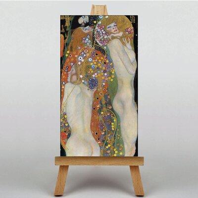 Big Box Art Water by Gustav Klimt Art Print on Canvas