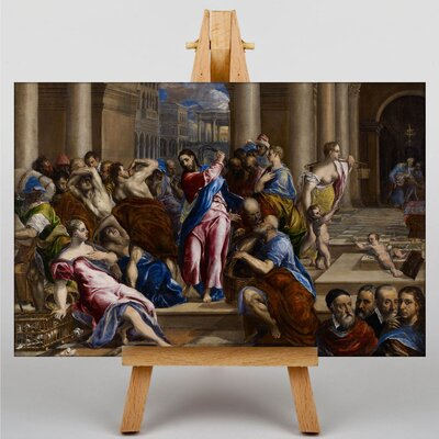 Big Box Art Driving the Money Changers by El Greco Christ Art Print on Canvas