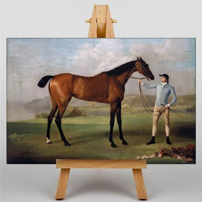 Big Box Art Molly Long Legs Horse with her Jockey by George Stubbs Art Print on Canvas