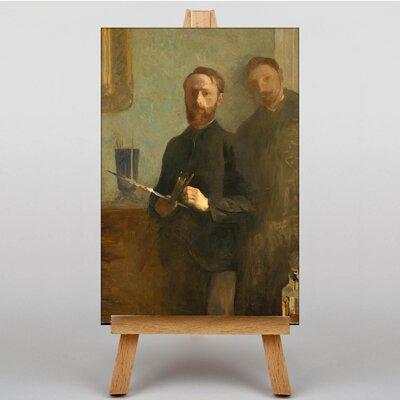 Big Box Art Self-Portrait with Waroquy by Edouard Vuillard Art Print on Canvas