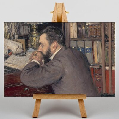 Big Box Art Henri Cordier by Gustave Caillebotte Art Print on Canvas