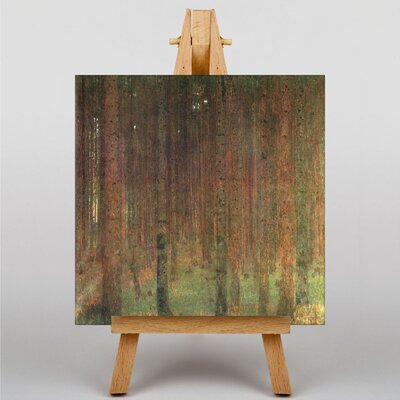 Big Box Art Fir Tree Forest No.2 by Gustav Klimt Art Print on Canvas