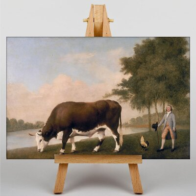 Big Box Art The Lincolnshire Ox by George Stubbs Art Print on Canvas