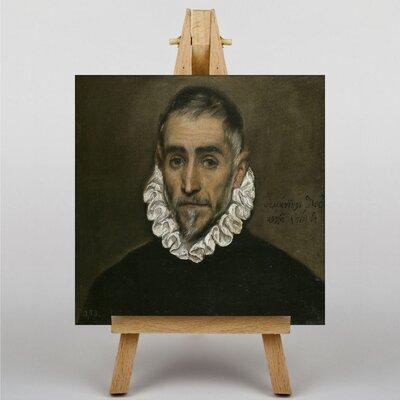 Big Box Art Portrait of a Man by El Greco Art Print on Canvas