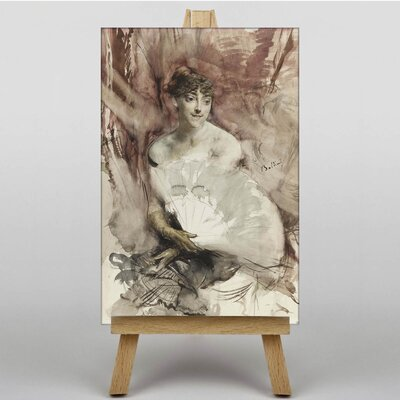 Big Box Art Woman with a Fan by Giovanni Boldini Art Print on Canvas