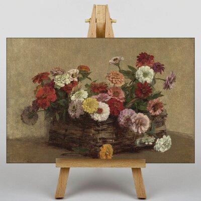 Big Box Art Summer Flowers No.1 by Henri Fantin-Latour Art Print on Canvas