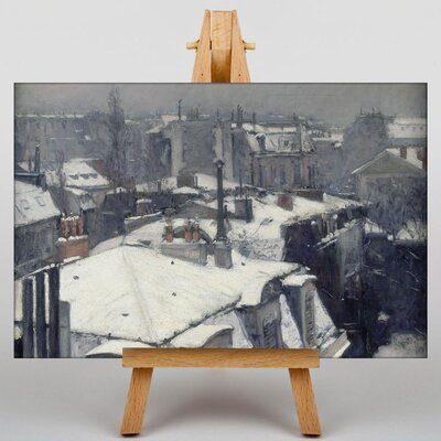 Big Box Art Rooftops in the Snow by Gustave Caillebotte Art Print on Canvas