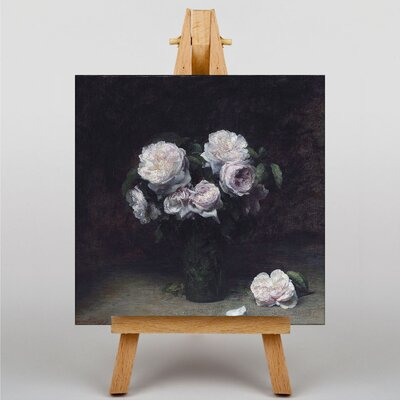 Big Box Art Roses by Henri Fantin-Latour Art Print on Canvas