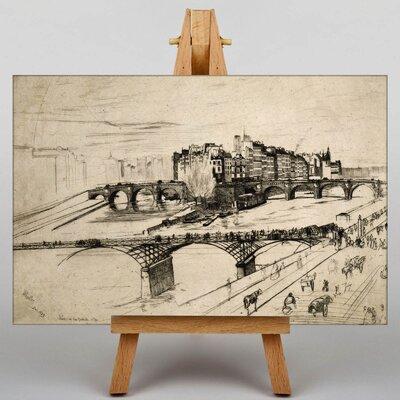 Big Box Art Paris Sketch by James McNeill Whistler Art Print on Canvas