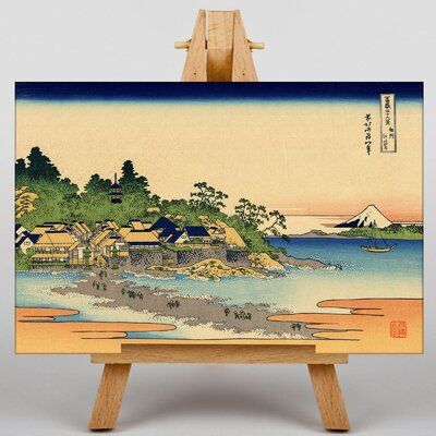 Big Box Art Japanese Oriental Enoshima by Katsushika Hokusai Art Print on Canvas
