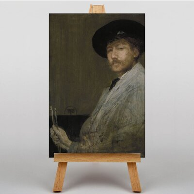 Big Box Art Self Portrait by James McNeill Whistler Art Print on Canvas