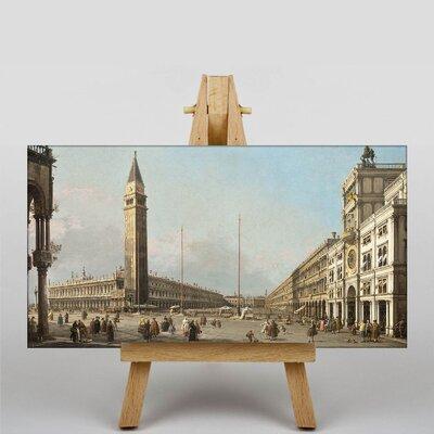 Big Box Art Piaza San Marco by Giovanni Canaletto Art Print on Canvas