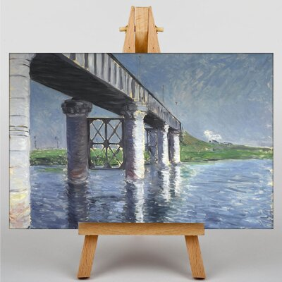 Big Box Art The Seine and the Railroad Bridge by Gustave Caillebotte Art Print on Canvas