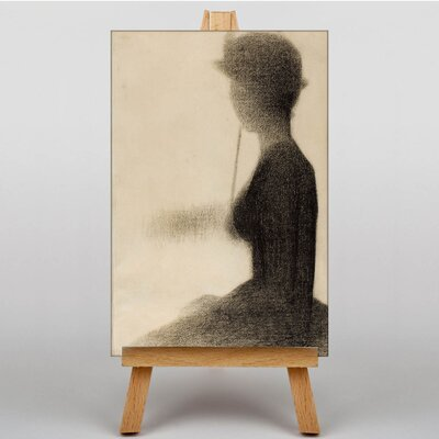 Big Box Art Seated Woman by Georges-Pierre Seurat Art Print on Canvas