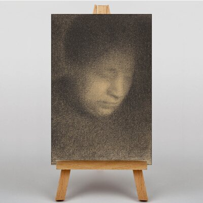 Big Box Art The Artists Mother by Georges-Pierre Seurat Art Print on Canvas