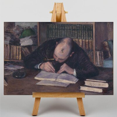 Big Box Art Writing Man by Gustave Caillebotte Art Print on Canvas