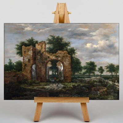 Big Box Art Landscape with Ruins by Horatio McColluch Art Print on Canvas