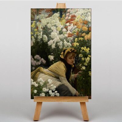 Big Box Art Chrysanthemums by James Tissot Art Print on Canvas