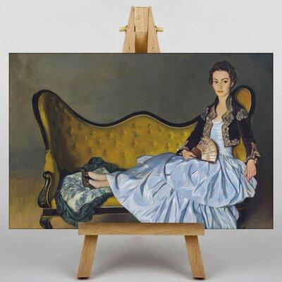 Big Box Art Female Chaise Lounge by Ignacio Zuloaga Art Print on Canvas