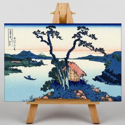 Big Box Art Japanese Oriental Lake Suwa by Katsushika Hokusai Art Print on Canvas