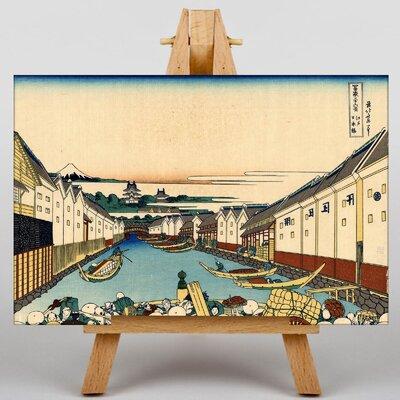 Big Box Art Japanese Oriental Nihonbashi by Hokusai Graphic Art on Canvas