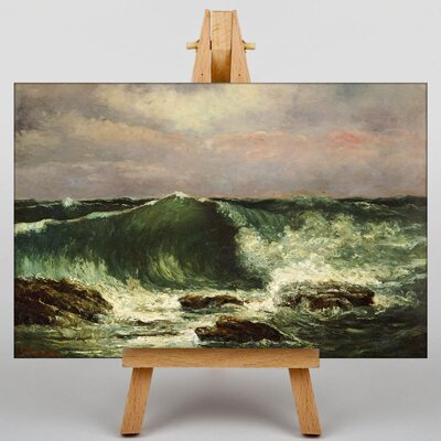 Big Box Art Gustave Courbet Waves by Gustave Caillebotte Art Print on Canvas