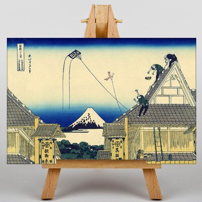 Big Box Art Japanese Oriental Mitsui by Hokusai Graphic Art on Canvas