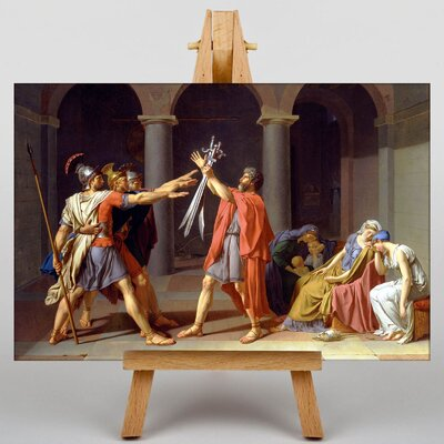 Big Box Art Oath of the Horatii by Jacques-Louis David Art Print on Canvas