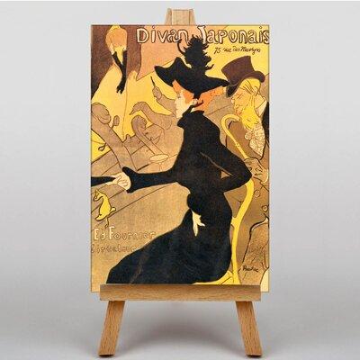 Big Box Art Divan Japonais by Henri de Toulouse-Lautrec Art Print on Canvas