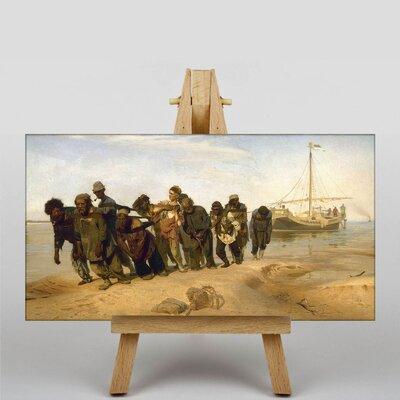 Big Box Art Haulers on the Volga by Ilya Repin Barge Art Print on Canvas
